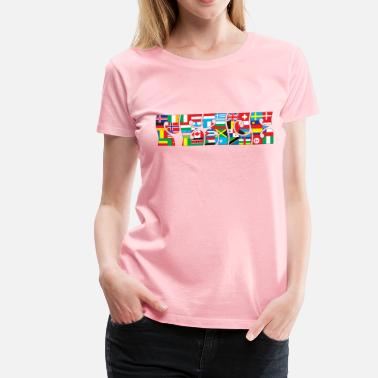 International Politics International Peace Typography With Stroke - Women's Premium T-Shirt