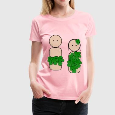 Peg People Adam and Eve - Women's Premium T-Shirt