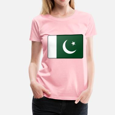 Pakistan Pakistan flag (bevelled) - Women's Premium T-Shirt