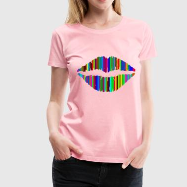 Technicolor Technicolor Lips - Women's Premium T-Shirt