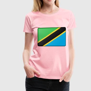 Tanzania flag (bevelled) - Women's Premium T-Shirt