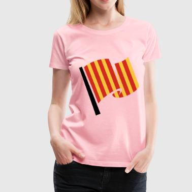 Racing Flag Slippery Track - Women's Premium T-Shirt