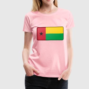 Flag of Guinea Bissau (bevelled) - Women's Premium T-Shirt