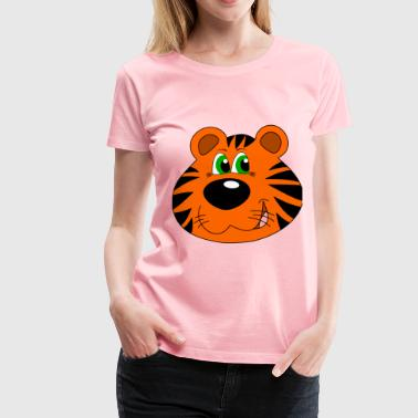 Cartoon tiger - Women's Premium T-Shirt