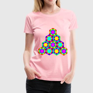 of Hexagons - Women's Premium T-Shirt