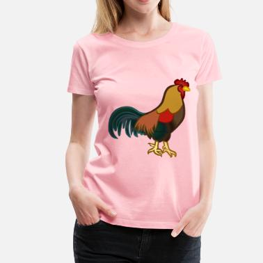 Cock Outline cock colured - Women's Premium T-Shirt