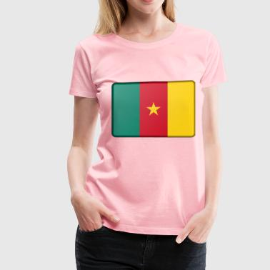 Cameroon flag (bevelled) - Women's Premium T-Shirt