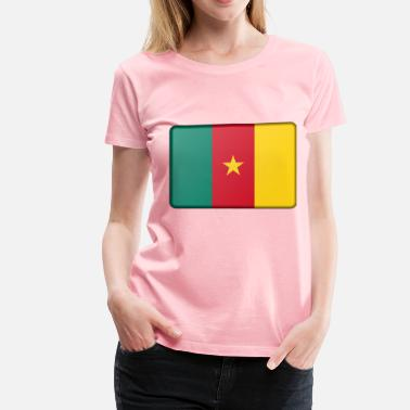 Cameroon Flag Cameroon flag (bevelled) - Women's Premium T-Shirt