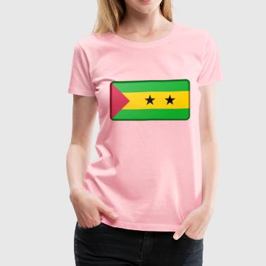 Sao Tome and Principe flag (bevelled) - Women's Premium T-Shirt