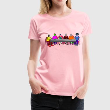 Meeting Table colorful - Women's Premium T-Shirt
