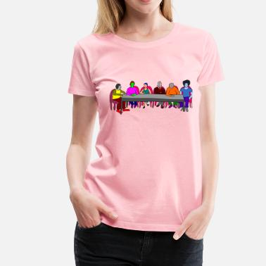 Meeting Table Meeting Table colorful - Women's Premium T-Shirt
