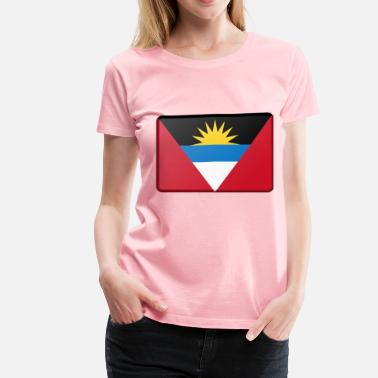 Antigua Flag Antigua and Barbuda flag (bevelled) - Women's Premium T-Shirt