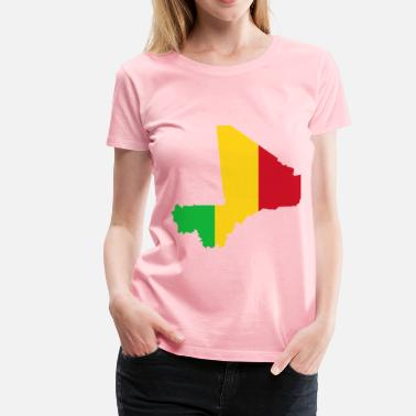 Mali Mali Flag Map - Women's Premium T-Shirt