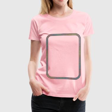 Squiggle Border - Women's Premium T-Shirt