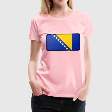 Flag of Bosnia Herzegovina (bevelled) - Women's Premium T-Shirt