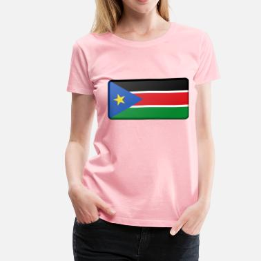 South Sudan Flag of South Sudan (bevelled) - Women's Premium T-Shirt