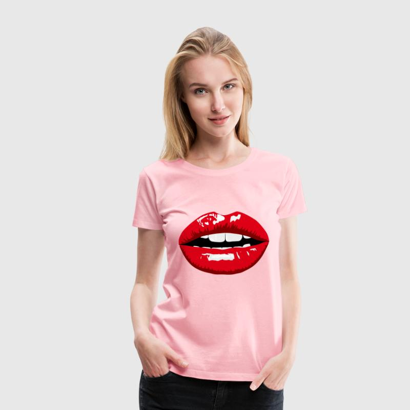 Red Lips - Women's Premium T-Shirt