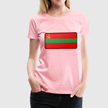 Flag of Transnistria (bevelled) - Women's Premium T-Shirt