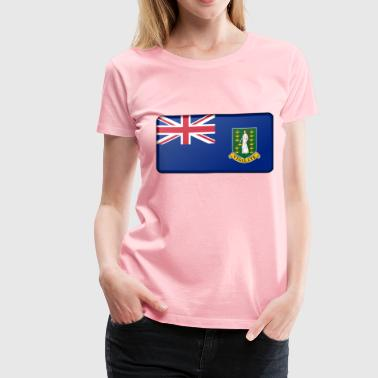 Flag of the British Virgin Islands (bevelled) - Women's Premium T-Shirt