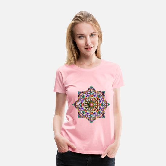 Celtic T-Shirts - Celtic Knot Stylized Reformation 7 - Women's Premium T-Shirt pink