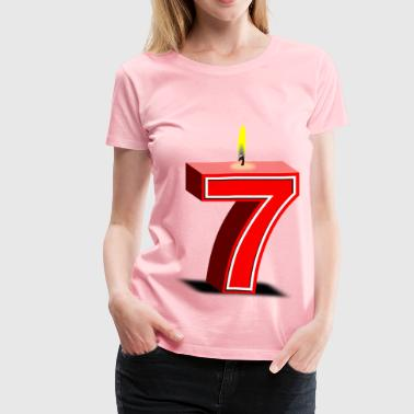 birthday candle  - Women's Premium T-Shirt