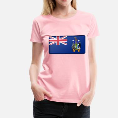 South Island Flag of the South Georgia and South Sandwich Islands (bevelled) - Women's Premium T-Shirt