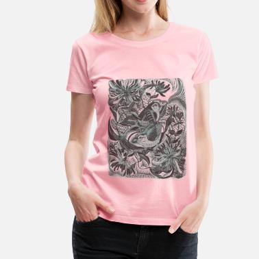 Nature Collection Birds in forest 01 Blur - Women's Premium T-Shirt