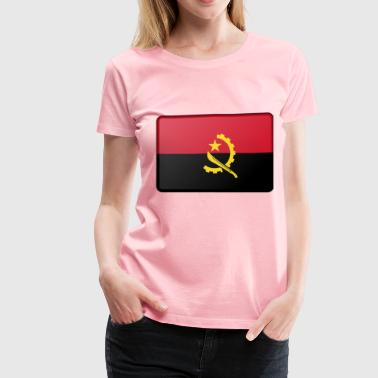 Angola flag (bevelled) - Women's Premium T-Shirt