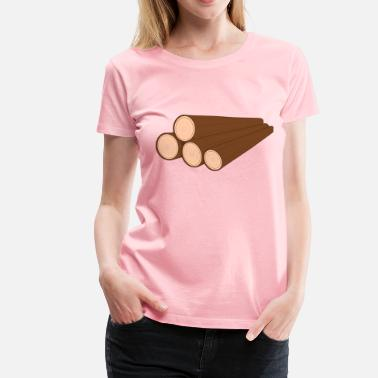 Wood Pile A pile of logs - Women's Premium T-Shirt