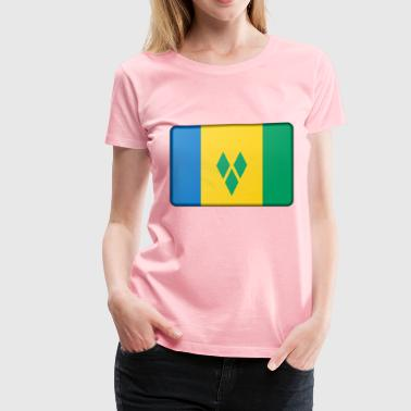 Saint Vincent and the Grenadines flag (bevelled) - Women's Premium T-Shirt
