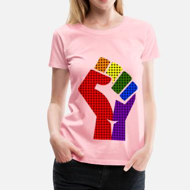 Hallucination Rainbow fist remixed 2 - Women's Premium T-Shirt