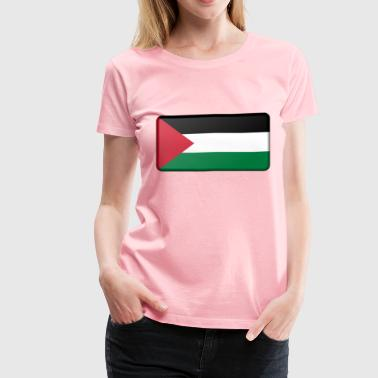 Palestine flag (bevelled) - Women's Premium T-Shirt