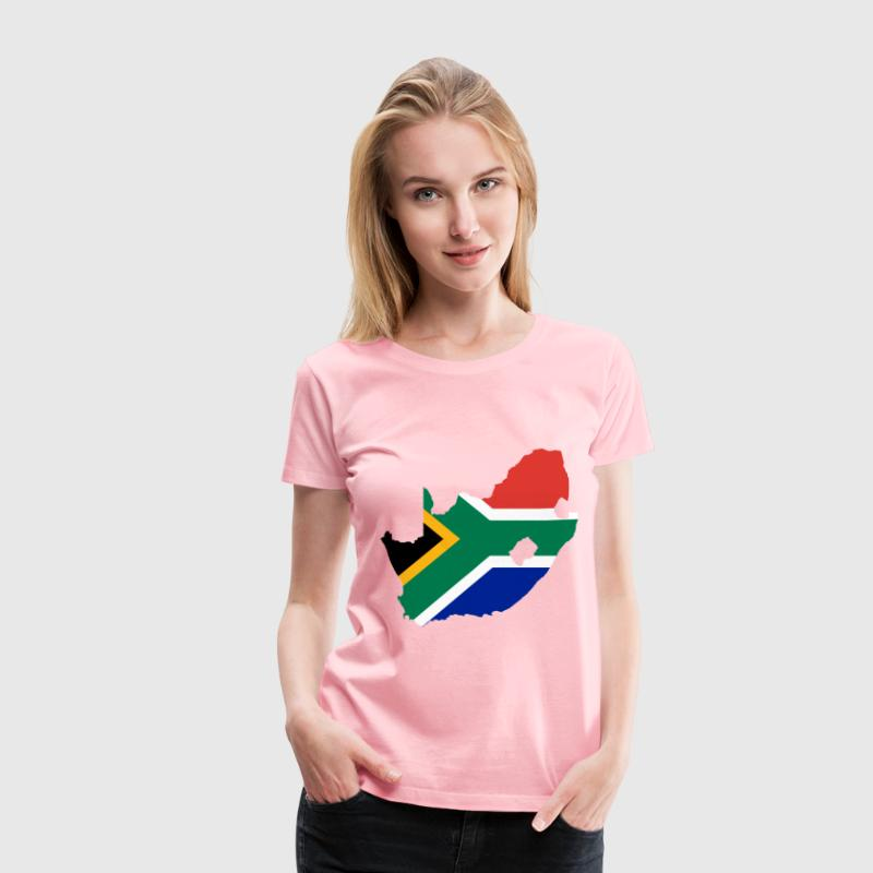 South Africa Flag Map - Women's Premium T-Shirt