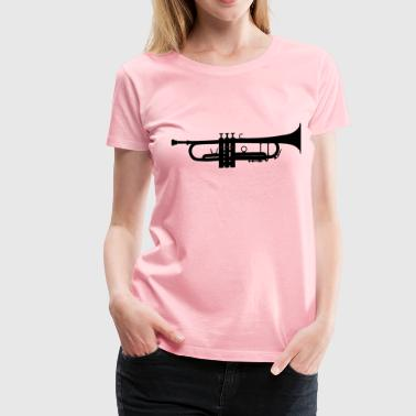 Audible Trumpet Silhouette 2 - Women's Premium T-Shirt