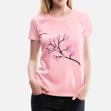 Cherry Cherry Blossoms - Women's Premium T-Shirt