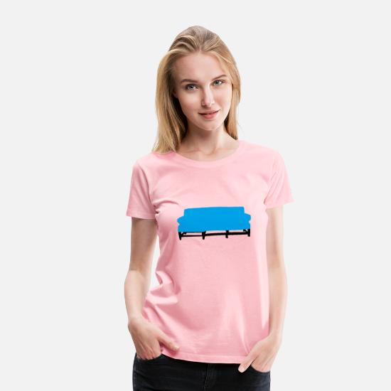 Bed T-Shirts - Couch - Women's Premium T-Shirt pink