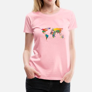 Prismatic World Map 5 - Women's Premium T-Shirt