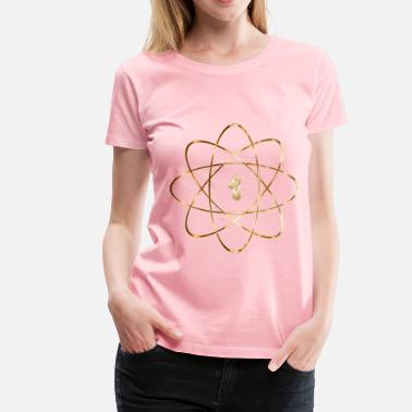 God Particle Gold Atom No Background - Women's Premium T-Shirt