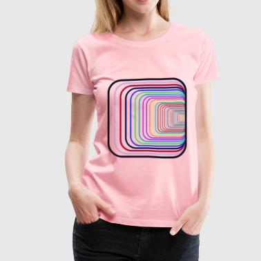 Prismatic Perspective Illusion - Women's Premium T-Shirt