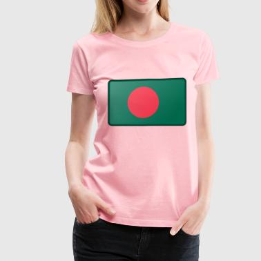 Flag of Bangladesh (bevelled) - Women's Premium T-Shirt