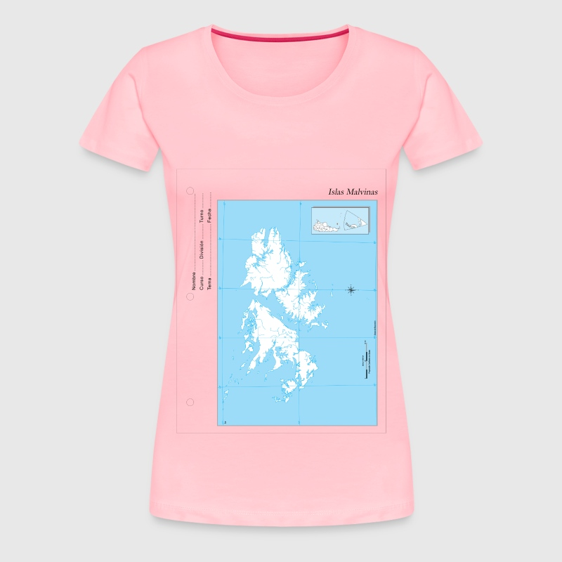Map Islas Malvinas - Women's Premium T-Shirt