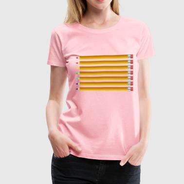 Colored Pencils - Women's Premium T-Shirt