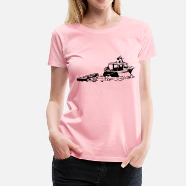 Dinghy Boat with dinghy - Women's Premium T-Shirt