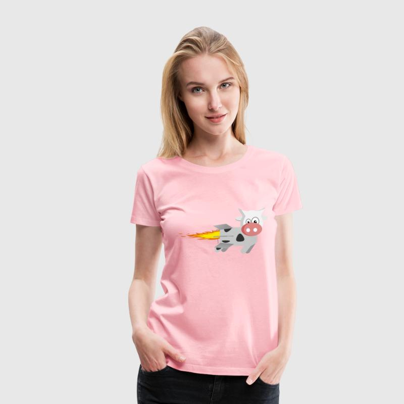 Rocket Cow - Women's Premium T-Shirt