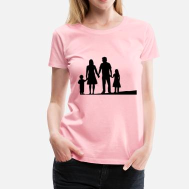 Nuclear Family Nuclear Family Silhouette - Women's Premium T-Shirt