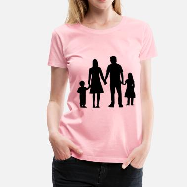 Nuclear Family Nuclear Family Silhouette Without Ground - Women's Premium T-Shirt