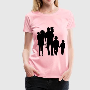 Happy Family Silhouette - Women's Premium T-Shirt