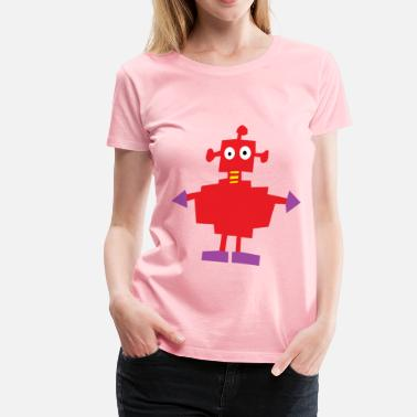 Automaton Cartoon Robot refixed - Women's Premium T-Shirt