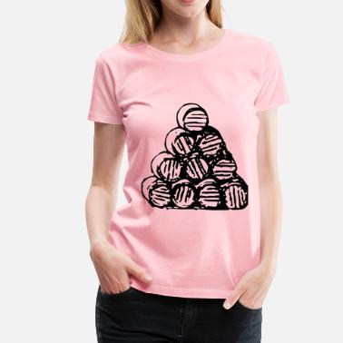 Wood Pile Stack of barrels - Women's Premium T-Shirt