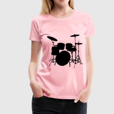 Audible Drums Silhouette 2 - Women's Premium T-Shirt